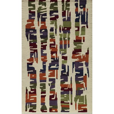 Fern Hand-Tufted Brown/Gray Area Rug Rug Size: 5 x 8