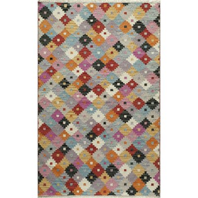 Rouidate Hand-Woven Blue/Orange Area Rug Rug Size: Rectangle 5 x 76