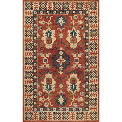 Adilet Hand-Tufted Red Area Rug