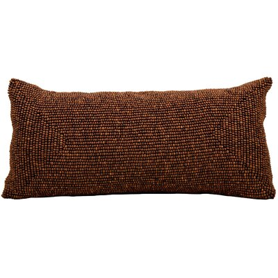 Zenon Lumbar Pillow Color: Brown