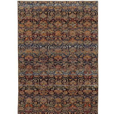 Rosalia Traditional Blue Area Rug Rug Size: Rectangle 52 x 76