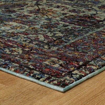 Rosalia Overdyed Blue/Purple Area Rug Rug Size: Rectangle 310 x 56