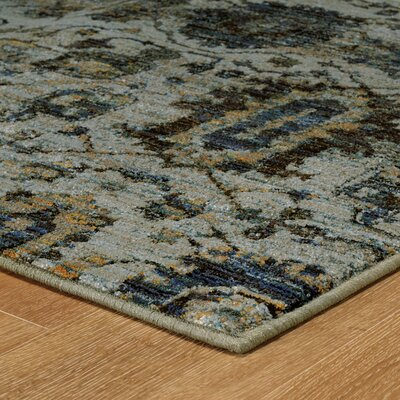 Rosalia Blue Area Rug Rug Size: Rectangle 52 x 76