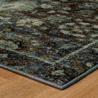 Rosalia Overdyed Blue Area Rug Rug Size: Rectangle 310 x 56
