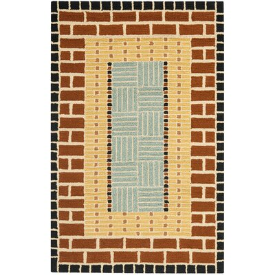 George Brown/Blue Outdoor Area Rug Rug Size: Rectangle 36 x 56