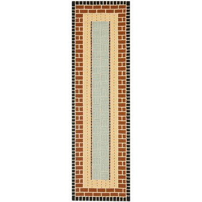 George Brown/Blue Outdoor Area Rug Rug Size: Runner 23 x 6