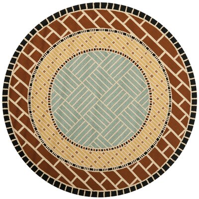 George Brown/Blue Outdoor Area Rug Rug Size: Round 4