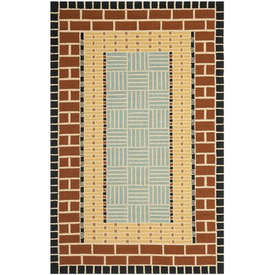 George Brown/Blue Outdoor Area Rug Rug Size: 5 x 8