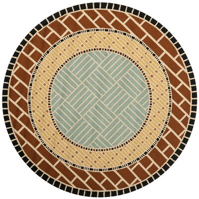 George Brown/Blue Outdoor Area Rug Rug Size: Round 6
