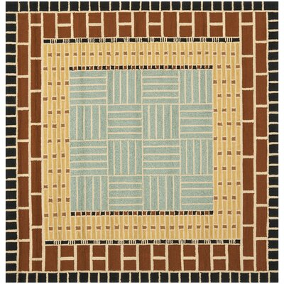 George Brown/Blue Outdoor Area Rug Rug Size: Square 6
