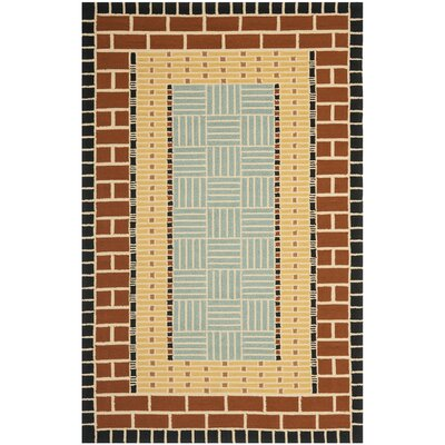 George Brown/Blue Outdoor Area Rug Rug Size: 8 x 10