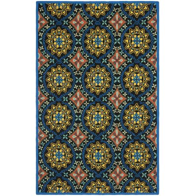 George Green/Blue Outdoor Area Rug Rug Size: 8 x 10