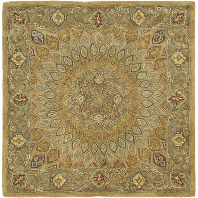 Gideon Light Brown/Grey Area Rug Rug Size: Square 7