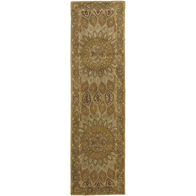 Gideon Light Brown/Grey Area Rug Rug Size: Runner 23 x 14
