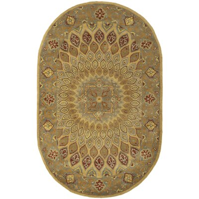 Gideon Light Brown/Grey Area Rug Rug Size: Oval 46 x 66