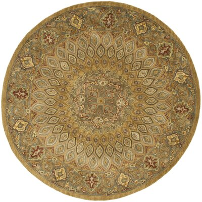 Gideon Light Brown/Grey Area Rug Rug Size: Round 6