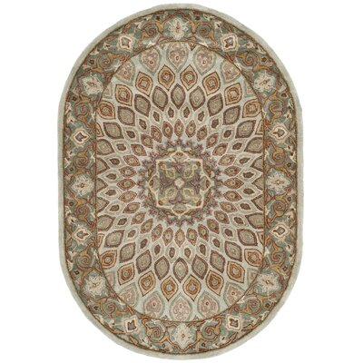 Gideon Blue Area Rug Rug Size: Rectangle 76 x 96