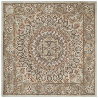 Gideon Blue/Grey Area Rug Rug Size: Square 6