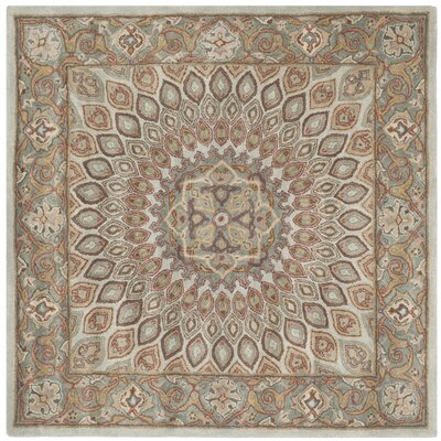 Gideon Blue/Grey Area Rug Rug Size: Square 7