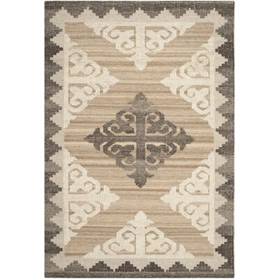 Gretta Brown and Charcoal Rug Rug Size: 3 x 5