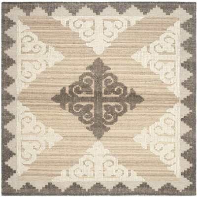 Gretta Brown and Charcoal Rug Rug Size: Square 7