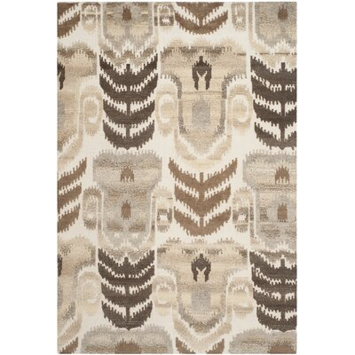 Gretta Natural Area Rug Rug Size: Rectangle 6 x 9