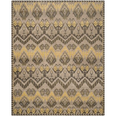 Glenoe Gold / Beige Contemporary Rug Rug Size: 6 x 9