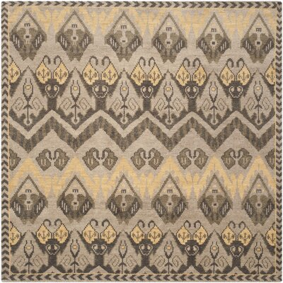 Glenoe Gold / Beige Contemporary Rug Rug Size: Square 7