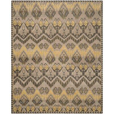 Gretta Gold / Beige Contemporary Rug Rug Size: 2 x 3