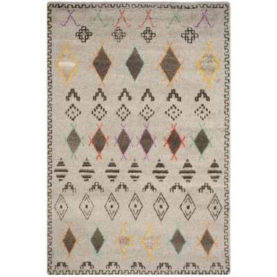 Gretta Natural/Multi Geometric Area Rug Rug Size: 5 x 8