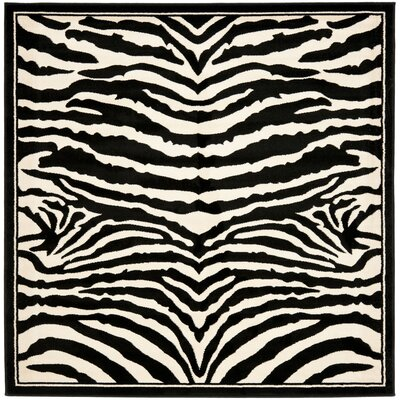 Lakewood Black/White Area Rug Rug Size: Square 6