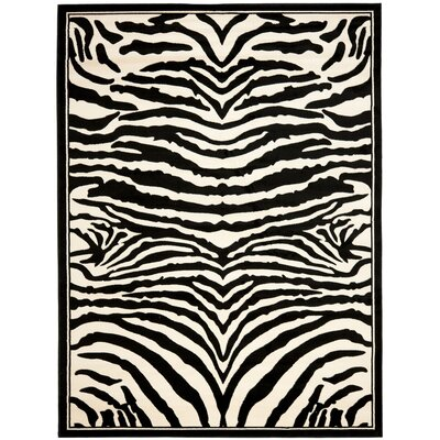 Lakewood Black/White Area Rug Rug Size: Rectangle 9 x 12