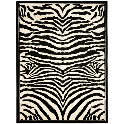 Lakewood Cream/Black Area Rug Rug Size: 8 x 11