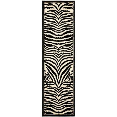 Lakewood Cream/Black Area Rug Rug Size: Runner 23 x 14