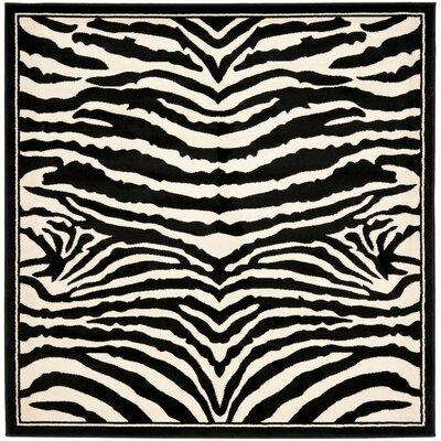 Lakewood Cream/Black Area Rug Rug Size: Square 8