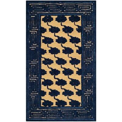 Layoune Beige/Blue Geometric Area Rug Rug Size: 79 x 99