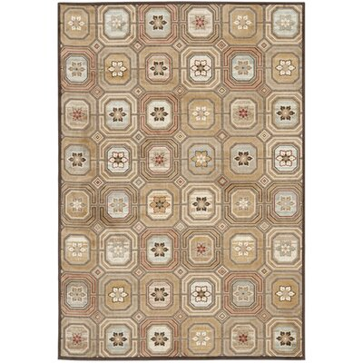 Ileana Brown/ Tan Area Rug Rug Size: Rectangle 27 x 4
