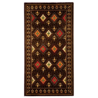 Iliana Black Area Rug Rug Size: Rectangle 2 x 37