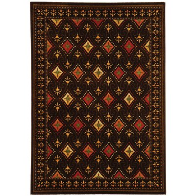 Iliana Black Area Rug Rug Size: Rectangle 53 x 77