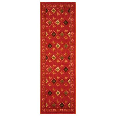 Iliana Red Area Rug Rug Size: Runner 24 x 67