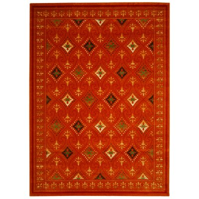 Iliana Red Area Rug Rug Size: Rectangle 8 x 112