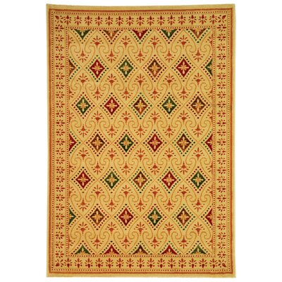 Lylee Yellow Area Rug Rug Size: 53 x 77