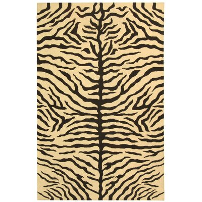 Ile des Pins Ivory / Black Novelty Rug Rug Size: Rectangle 9 x 12