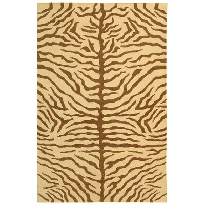 Ile des Pins Ivory / Brown Novelty Rug Rug Size: 8 x 10