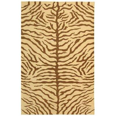 Makou SUM540B Ivory / Brown Novelty Rug Rug Size: 4 x 6