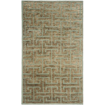 Elise Blue / Beige Area Rug Rug Size: Rectangle 9 x 12