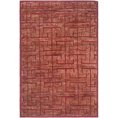 Elise Red/Rust Rug Rug Size: 8 x 10
