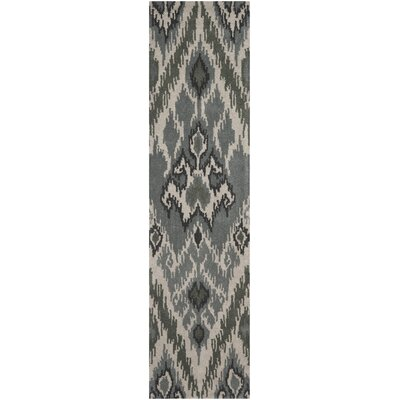 Camden Grey / Green Area Rug Rug Size: Runner 23 x 9