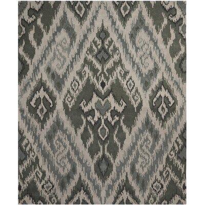 Camden Grey / Green Area Rug Rug Size: 4 x 6