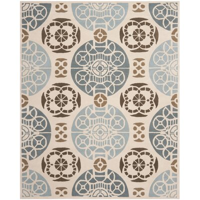 Dorothy Beige / Blue Area Rug Rug Size: Rectangle 8 x 10